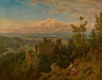 The ruins of the castle at Hohenbaden: looking out over the Rhine valley, Baden Baden (Die Burgruine Hohenbaden)