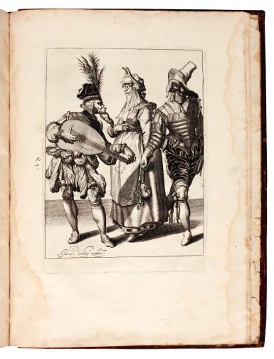 View 2. Thumbnail of Lot 114. Galle, Septem opera misericordiae spiritualia, Antwerp, 1577, later English calf.