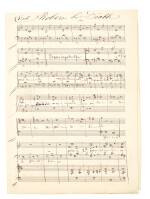 """G. Meyerbeer, Autograph manuscript of part of """"Robert le Diable"""", with the printed score given to Nourrit, c.1831"""