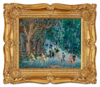 View 2. Thumbnail of Lot 12. JEAN DUFY | CHASSE À COURRE.