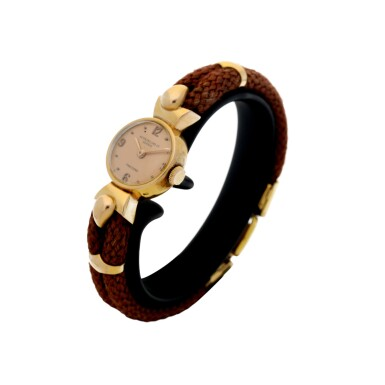 View 2. Thumbnail of Lot 314. RETAILED BY FRECCERO: A LADY'S PINK GOLD WRISTWATCH, CIRCA 1918.