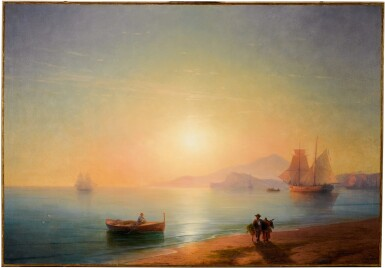 View 2. Thumbnail of Lot 29. IVAN KONSTANTINOVICH AIVAZOVSKY | THE BAY OF NAPLES.