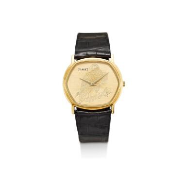 View 1. Thumbnail of Lot 8121. PIAGET | REFERENCE 9597 | A YELLOW GOLD WRISTWATCH, CIRCA 1970 | 伯爵 | 型號9597 黃金腕錶,約1970年製.