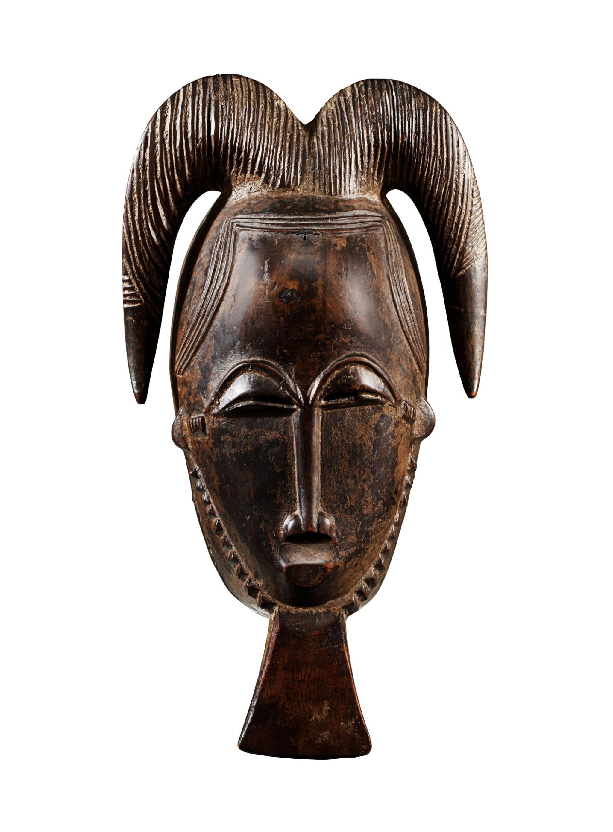 View full screen - View 1 of Lot 23. Masque, Baulé, Côte d'Ivoire   Baule mask, Côte d'Ivoire     .