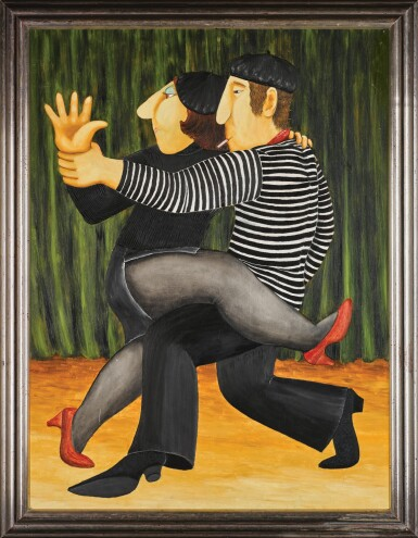 View 2. Thumbnail of Lot 140. BERYL COOK | FRENCH TANGO.