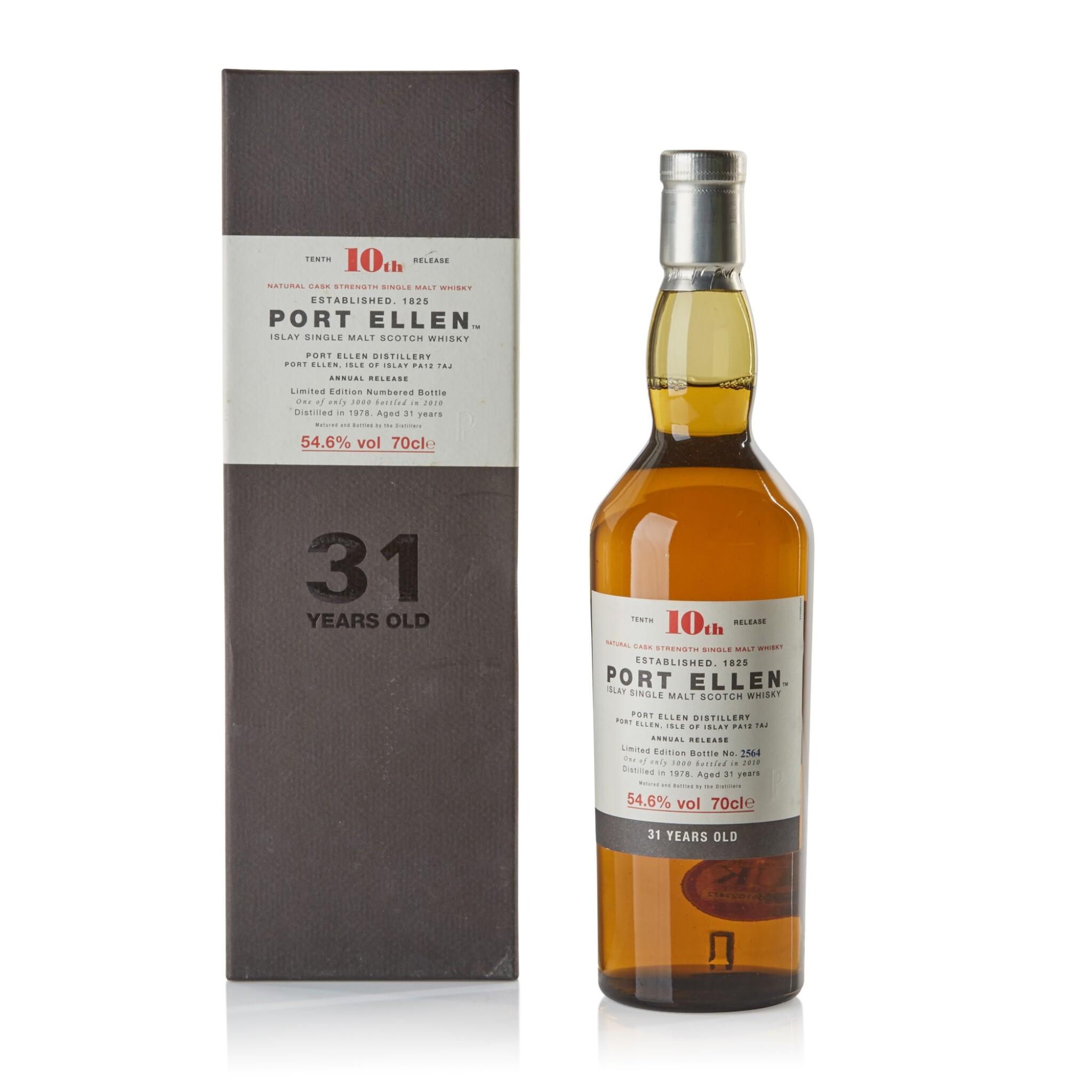 View full screen - View 1 of Lot 105. Port Ellen Tenth Annual Release 31 Year Old 54.6 abv 1978 .
