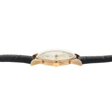 View 5. Thumbnail of Lot 411. REF 1582 YELLOW GOLD WRISTWATCH WITH FANCY LUGS MADE IN 1946.