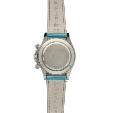 View 5. Thumbnail of Lot 4. Reference 116519 'Daytona Beach'  A white gold automatic chronograph wristwatch, Circa 2000.
