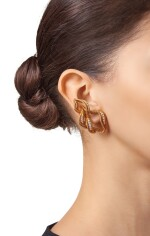 PAIR OF GOLD AND DIAMOND EARCLIPS, CHAUMET, PARIS
