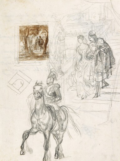 KARL PAVLOVICH BRIULLOV    A COLLECTION OF 52 DRAWINGS AND SKETCHES, SOME OF WHICH DOUBLE-SIDED
