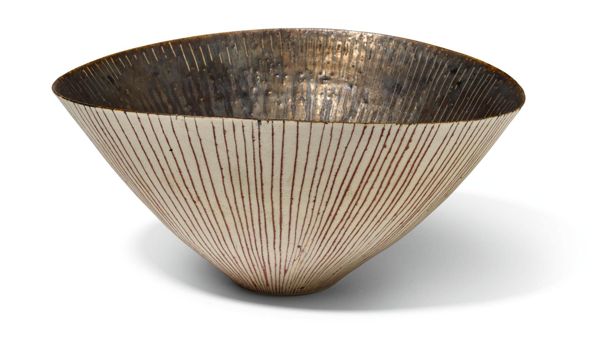 View full screen - View 1 of Lot 75. DAME LUCIE RIE | OVAL BOWL.