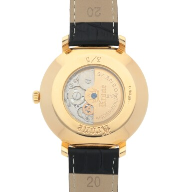 View 4. Thumbnail of Lot 476. KRONE LIMITED EDITION YELLOW GOLD WRISTWATCH WITH ENAMEL DIAL CIRCA 2010.