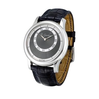 View 2. Thumbnail of Lot 2222. Romain Gauthier   Prestige HM, A limited edition platinum wristwatch, Circa 2007   Prestige HM  限量版鉑金腕錶,約2007年製.