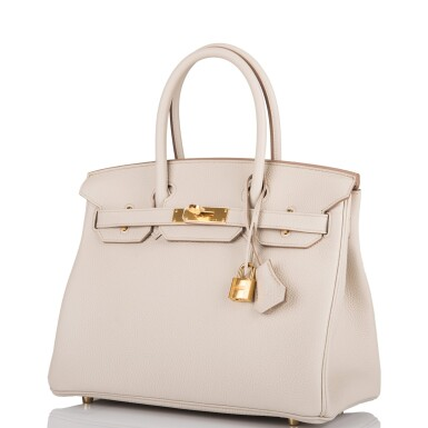 View 5. Thumbnail of Lot 5. Hermès Beton Birkin 30cm of Togo Leather with Gold Hardware.