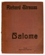 R. Strauss. Collection of bound editions of full scores and vocal scores of the operas, modern boards