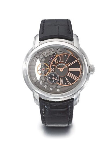 AUDEMARS PIGUET | MILLENARY, A STAINLESS STEEL AUTOMATIC SEMI-SKELETONIZED WRISTWATCH CIRCA 2010