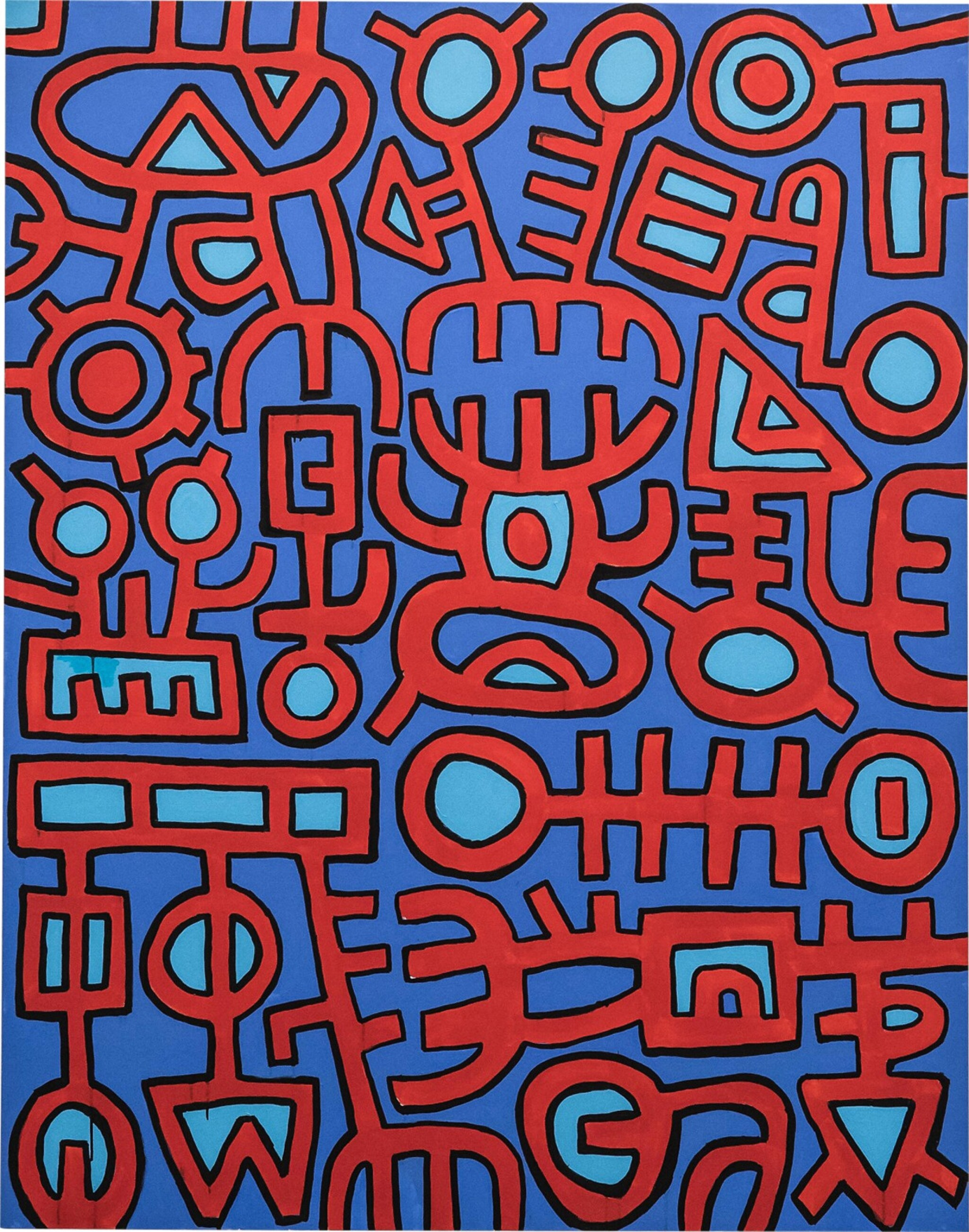 View full screen - View 1 of Lot 2. MOHAMED AHMED IBRAHIM | UNTITLED (RED AND BLUE).