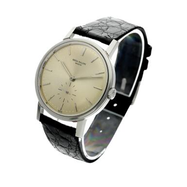 View 2. Thumbnail of Lot 237. Reference 3466  A stainless steel automatic wristwatch, Made in 1963.
