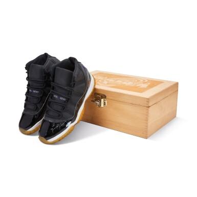 View 3. Thumbnail of Lot 1. Michael Jordan Signed 'Player Sample' Deadstock Air Jordan 11 'Space Jam' | Size 13.