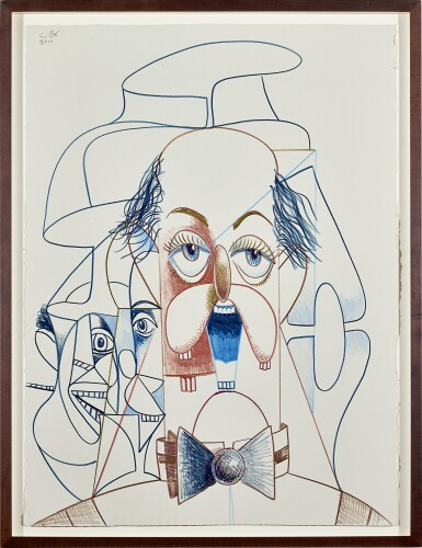 View 2. Thumbnail of Lot 518. George Condo 喬治・康多   Untitled (Banker)  無題(銀行家).