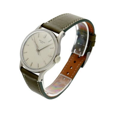 View 2. Thumbnail of Lot 37. PATEK PHILIPPE | REFERENCE 570 CALATRAVA  A WHITE GOLD WRISTWATCH, MADE IN 1966.