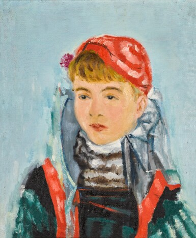 View 1. Thumbnail of Lot 111. Girl in a Red Beret.