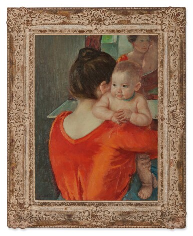View 2. Thumbnail of Lot 28. Baby Charles Looking Over His Mother's Shoulder (No. 3).