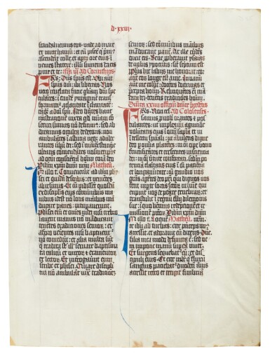 View 6. Thumbnail of Lot 1. Nine manuscript leaves, mostly 15th century, from books of hours and prayerbooks, on vellum.