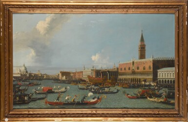 View 2. Thumbnail of Lot 204. Venice, a view of the Palazzo Ducale from the Bacino, with the Bucintoro returning to the Molo on Ascension Day.