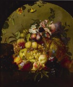 JEAN-BAPTISTE ROBIE   STILL LIFE WITH FRUIT AND FLOWERS