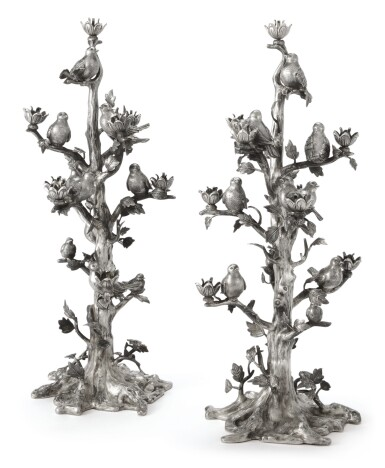 View 2. Thumbnail of Lot 51. A PAIR OF ITALIAN SILVER EIGHT-LIGHT CANDELABRA, GIANMARIA BUCCELLATI, CIRCA 1975.
