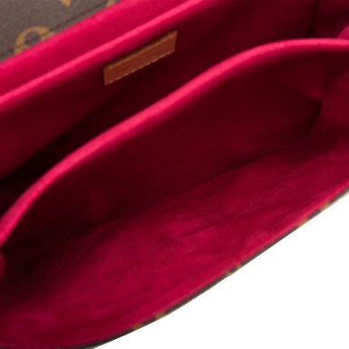 View 8. Thumbnail of Lot 114.  Louis Vuitton Monogram Patches Pochette Metis of Coated Canvas with Golden Brass Hardware.