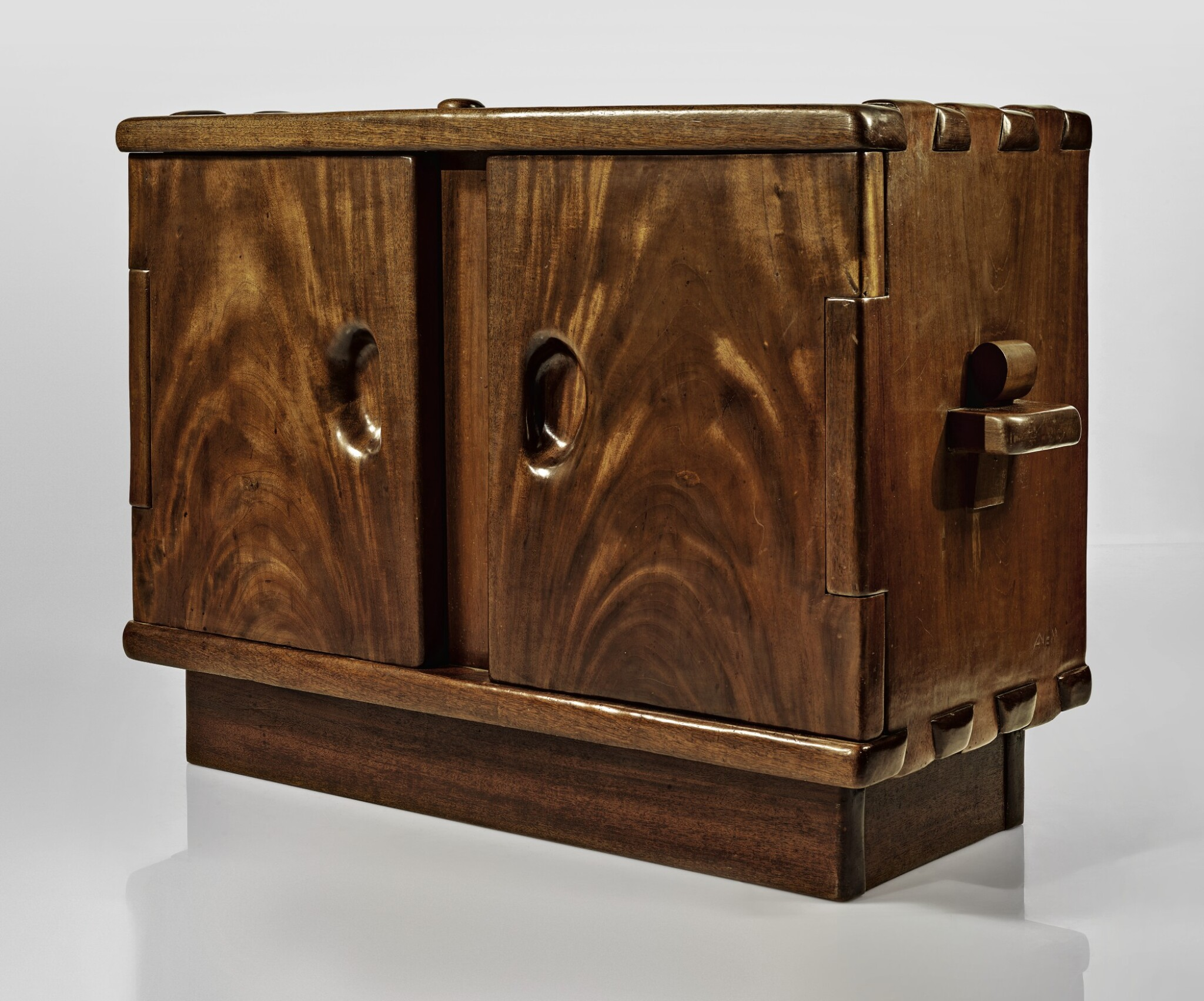 View full screen - View 1 of Lot 280. ALEXANDRE NOLL | AN IMPORTANT TWO-DOOR CABINET.