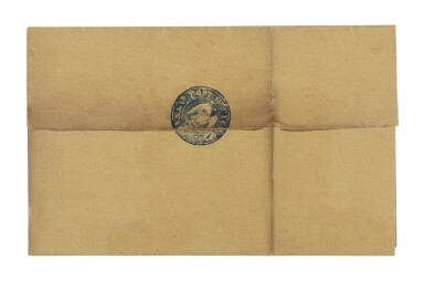 View 1. Thumbnail of Lot 1. Postmaster's Provisional, Annapolis, MD. 1846 Blue Post Office Handstamp (2XU1var).