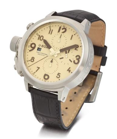 View 2. Thumbnail of Lot 8114. U-BOAT   CRONOGRAFO, REFERENCE U-7750/45   A STAINLESS STEEL CHRONOGRAPH WRISTWATCH WITH DATE, CIRCA 2016   Cronografo 型號U-7750/45 精鋼計時腕錶,備日期顯示,約2016年製.