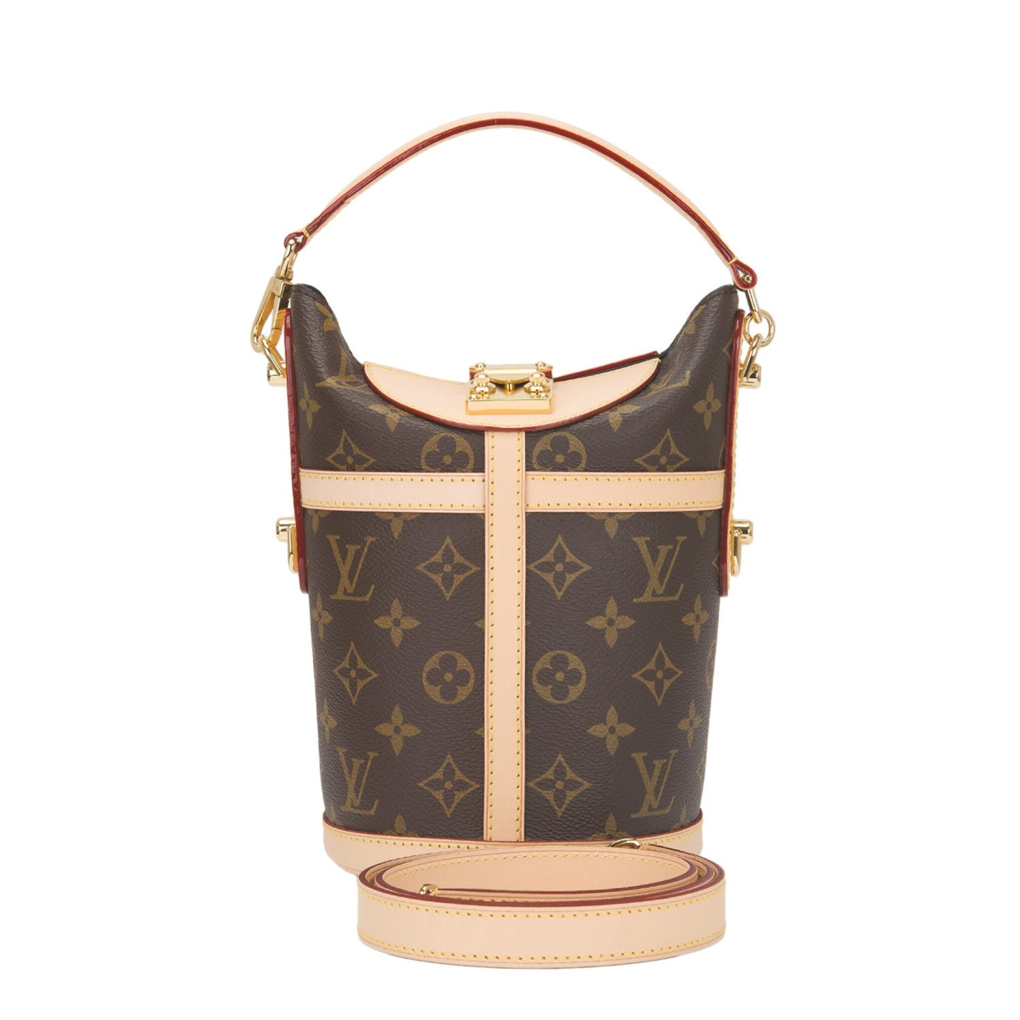 View full screen - View 1 of Lot 55. Louis Vuitton Monogram Duffle Bag PM of Coated Canvas and Gold Tone Hardware.