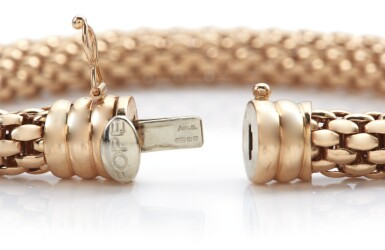 View 3. Thumbnail of Lot 1009. THREE BRACELETS, RETAILED BY ASPREY & CO..
