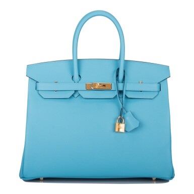 View 1. Thumbnail of Lot 15. Hermès Bleu du Nord Birkin 35cm of Epsom Leather with Gold Hardware.
