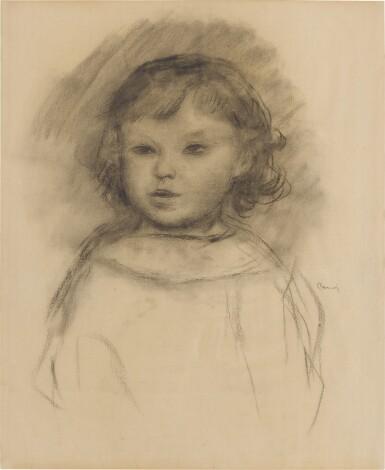 View 1. Thumbnail of Lot 166. Buste d'enfant, Pierre Renoir.