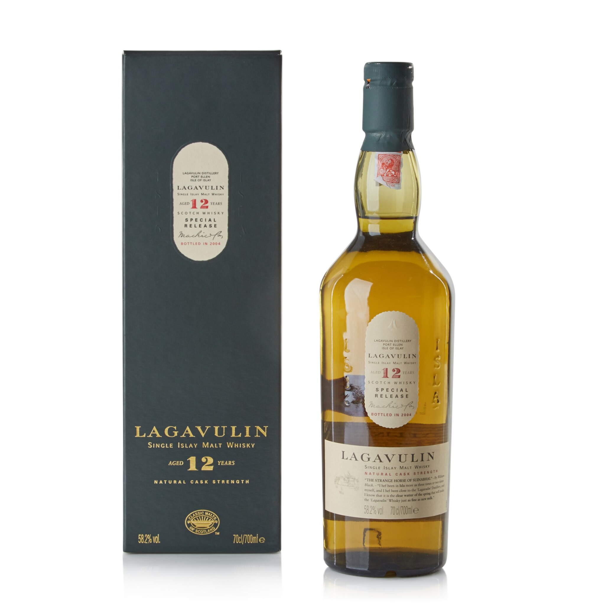 View full screen - View 1 of Lot 118. Lagavulin 12 Year Old 2004 Special Release 58.2 abv NV.