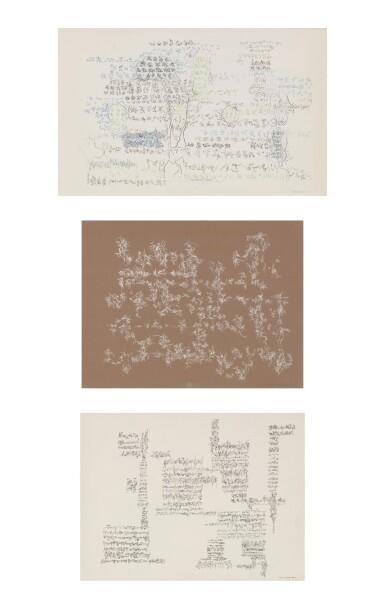Bernard Schultze   Sans Titre [3 oeuvres]