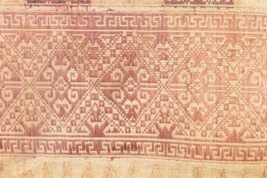 View 7. Thumbnail of Lot 6. Un textile cérémoniel pua et trois nattes, Indonésie | A ceremonial cloth pua and three mats, Indonesia.