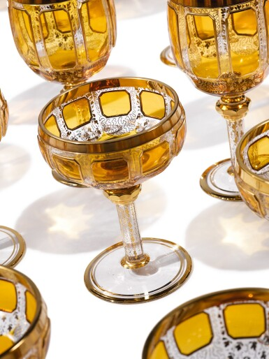 View 2. Thumbnail of Lot 270. A BOHEMIAN AMBER-TINTED AND GILT GLASS PART-TABLE SERVICE, LATE 19TH/20TH CENTURY.