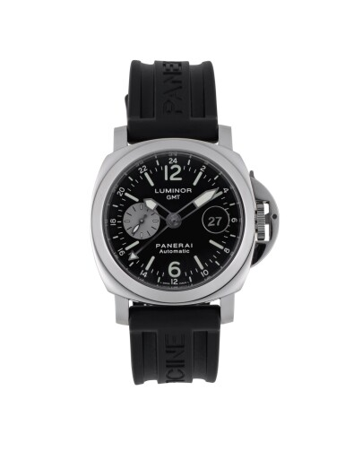 PANERAI | LUMINOR GMT, REF PAM00088 STAINLESS STEEL DUAL TIME ZONE WRISTWATCH WITH DATE CIRCA 2003