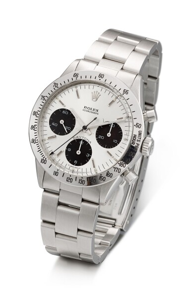 View 2. Thumbnail of Lot 162. ROLEX | COSMOGRAPH DAYTONA, REFERENCE 6262, A STAINLESS STEEL CHRONOGRAPH WRISTWATCH WITH BRACELET, CIRCA 1971.