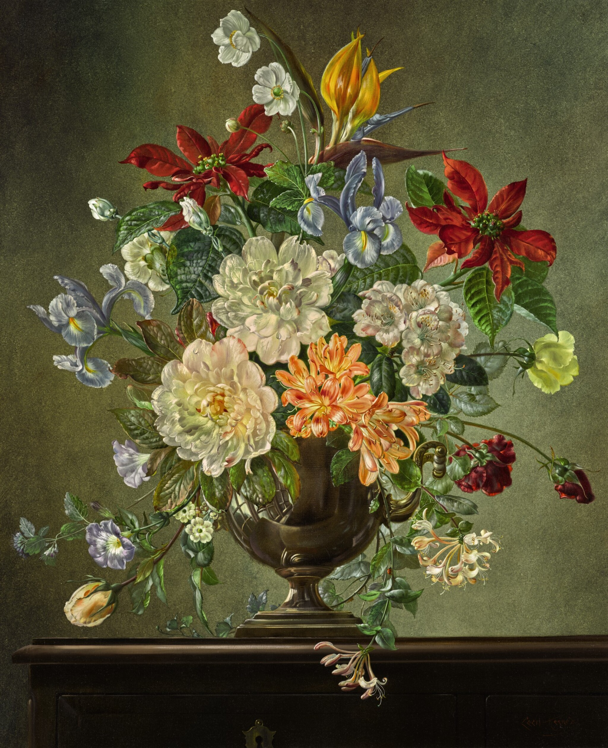 View 1 of Lot 113.  Still Life with Mixed Flowers.