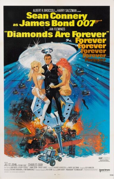 View 1. Thumbnail of Lot 95. DIAMONDS ARE FOREVER (1971) POSTER, US.