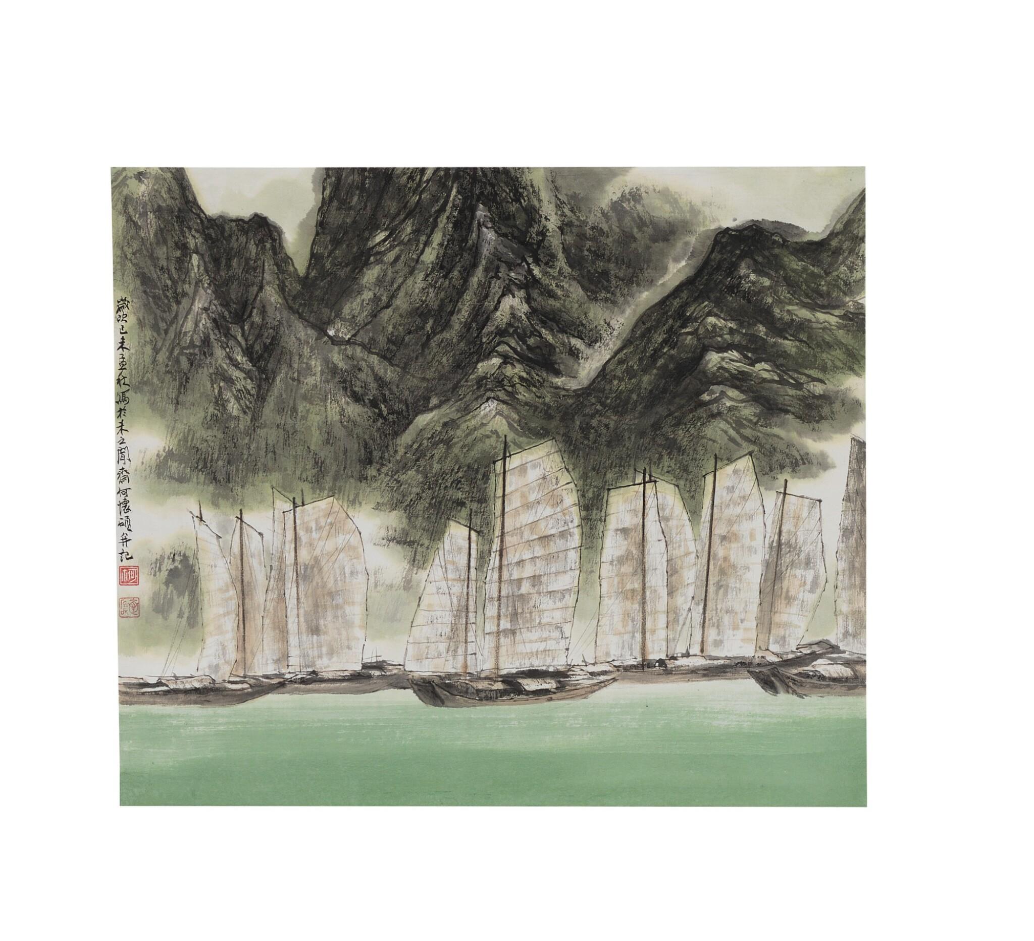 View 1 of Lot 1077.  HE HUAISHUO (HO HUAI-SHUO, B.1941) | PASSAGE.