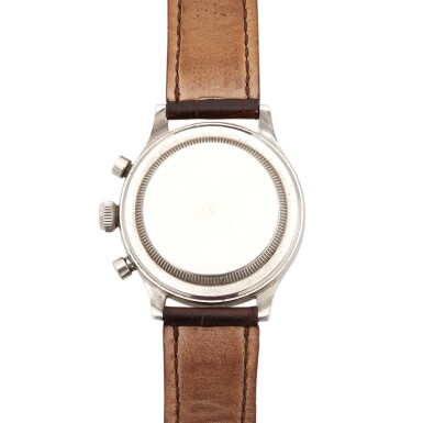 View 4. Thumbnail of Lot 393. 'MONOBLOCCO', REF 3525 STAINLESS STEEL CHRONOGRAPH WRISTWATCH CIRCA 1945.