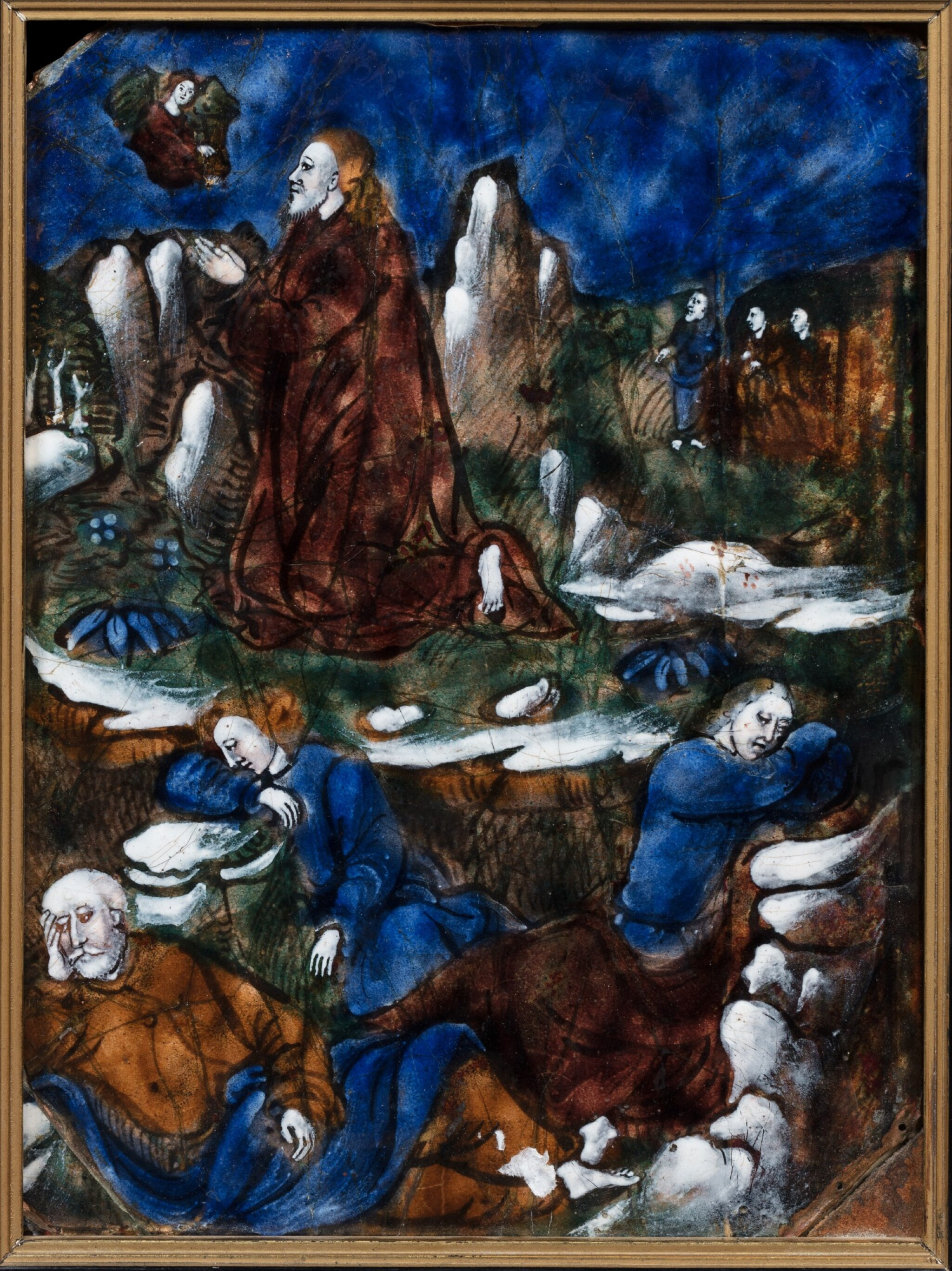View full screen - View 1 of Lot 124. Christ on the Mount of Olives.